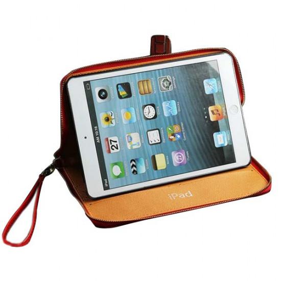 Crazy Horse Ådringsmönster PU Läderfodral Skydd för iPad Mini 2021