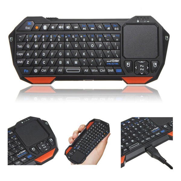 buy mini bluetooth wireless keyboard touchpad mouse for ipad pc. Black Bedroom Furniture Sets. Home Design Ideas