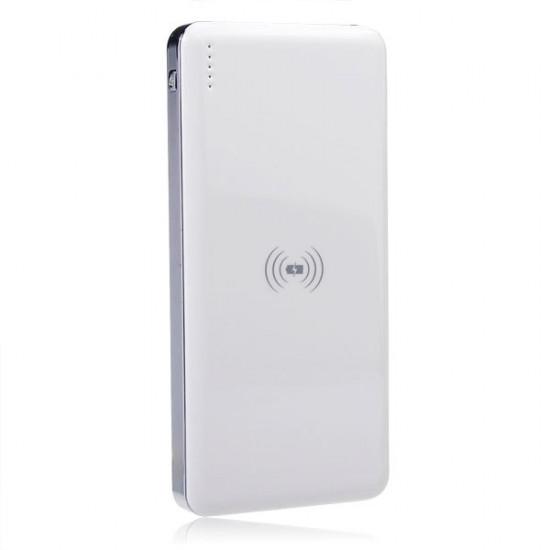Qi 10000mah Trådlös Laddare Pad för iPhone6 smartphone 2021
