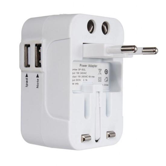 Eu och USA Au UK Universal Ac Plug Adapter Socket Konverter 2021
