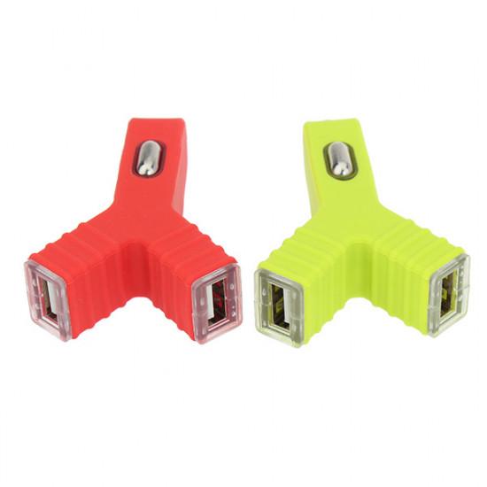 Unik Bärbar Y Shape Dual Port USB Billaddare för iPhone 2021