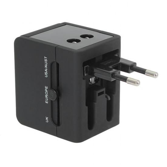 Universal 2 USB-Port Reseladdare Adapter för iPhone Smartphone 2021