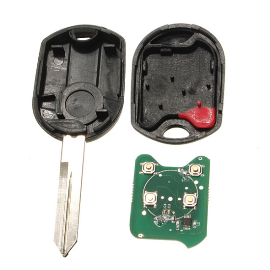 3 Knapp Fjärrnyckel Nyckelskal Entry Combo Fob Uncut Blad för Ford 2021