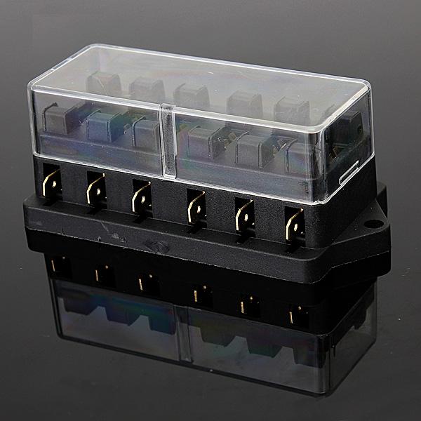 k p 6way universal standard 12v atc blad fuse box cover. Black Bedroom Furniture Sets. Home Design Ideas