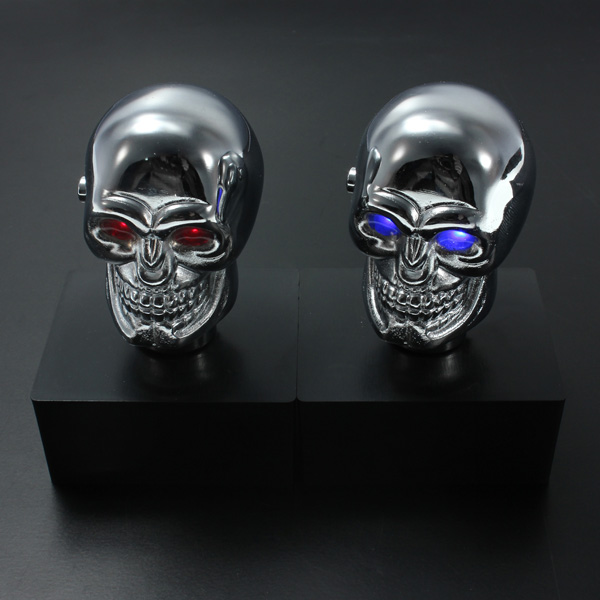 Buy Car Chrome Skull Auto Manual Gear Stick Shift Knob ...
