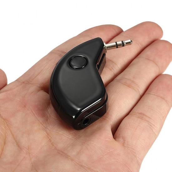 3.5mm Mini Hem Bil AUX Handsfree-Högtalare Musik Mottagare Audio Adapter 2021