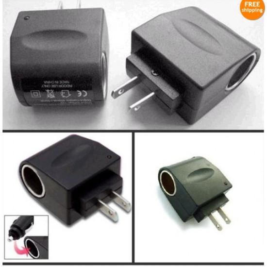 110V AC-12V DC Bilens Cigarettænder Socket Oplader Adapter USA Plug 2021