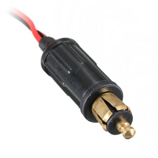 12-24V Bilens Cigarettænder Power Plug Hoved 15A DC Adapter Oplader 2021