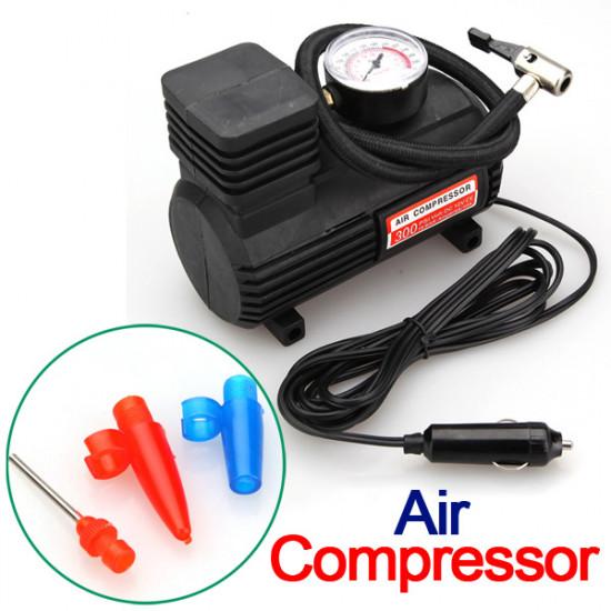 12V Autoelektro Portable Pumpe Air Compressor Værktøj 300 PSI 2021