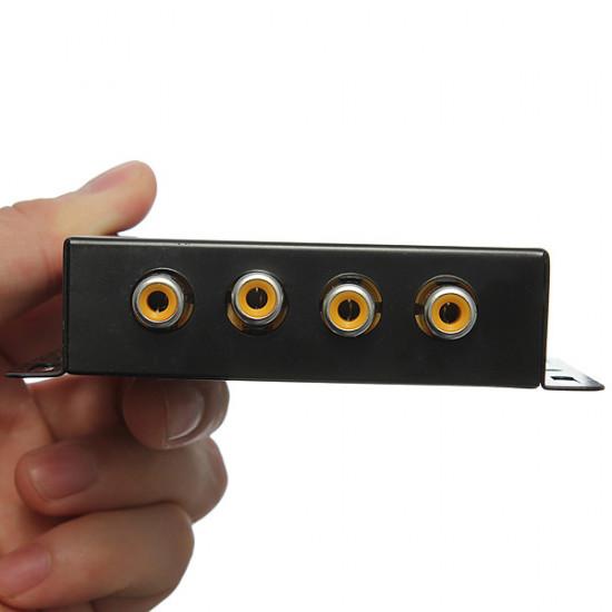 1 til 4 Bil DVD LCD TV Skærm Video Booster Distribution RCA Splitter 2021