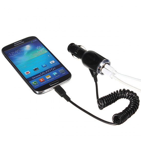 Dual USB Port Stecker KFZ Ladegerät für iPhone 4 5 iPad Samsung S4 2021