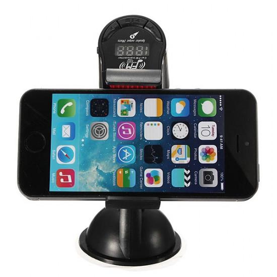 Multifunktionella BILHÅLLARE 3.5mm Handsfree FM-sändare 2021