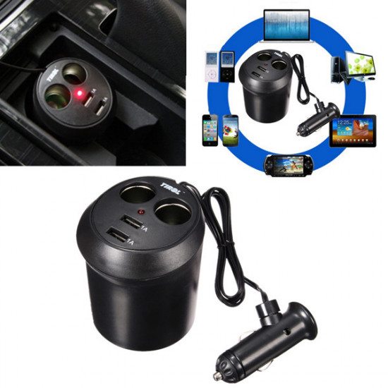 Universal 2 Port USB Auto Auto Ladegerät Adapter für iPhone6 / 6s / 5 iPod / iPad 2021