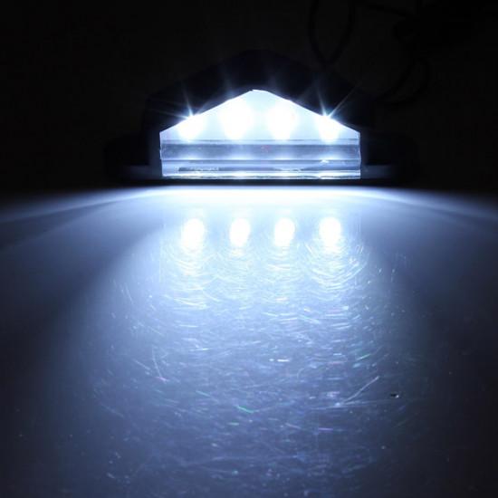 10-30V 4 LED bakre registreringsskylt lampa Lastbil Trailer Vattentät 2021