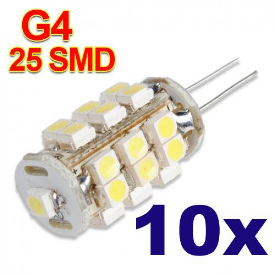 10xG4 25 Pure White SMD LED RV Marineboots Leuchten Lampen Lampen 12V 2021