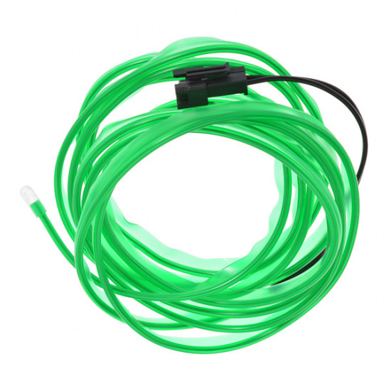 2 Meter Car EL Wire Neon Orange Green Glow Light with Car Charger 2021