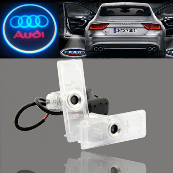 2 X Laser Logo LED Door Ghost Shadow Welcome Lights for Audi 2021