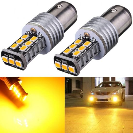 2 x BAY15D 1157 2835 15W Blinker Endendstück Gelb LED Leuchten 2021
