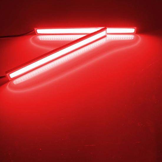 2 x Wasserdicht 12V COB Weiß Auto LED Leuchten für Tagfahrlicht Nebel Fernlicht 2021
