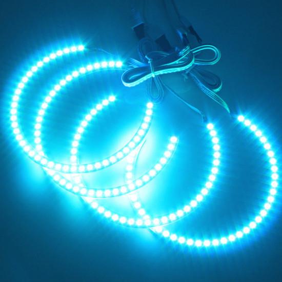 4PCS RGB LED Angel Eyes Halo Ring for BMW E36 E38 E39 E46 M3 2021