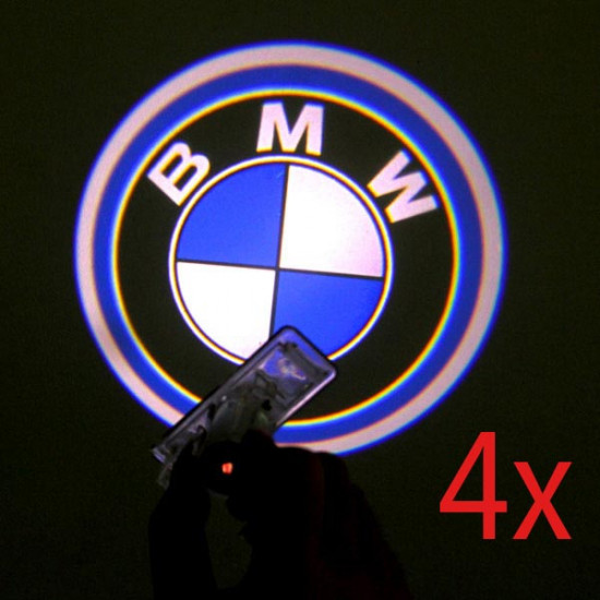 4 X Cree LED Car Door Laser Welcome Lights for BMW 2021