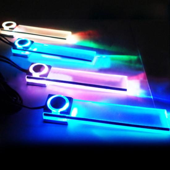 4 X LED Car Interior Decorative Floor Dash Light 7 Color 2021