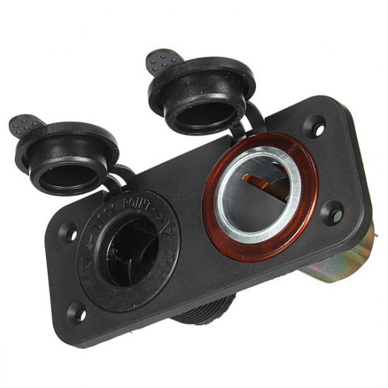 Laddare 2 Way Socket Adapter Splitter Plug Motorcykel Bil 2021