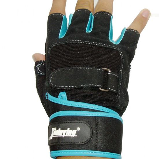 Motorcycle Half Finger Gloves Lengthened Wrist Fitness Gloves 2021