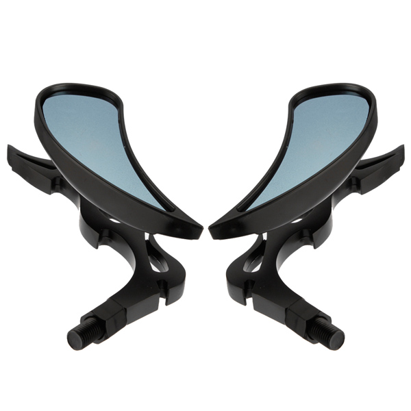 K b universal motorcykel flame rear view sidespejle black for Mirror 600 x 600