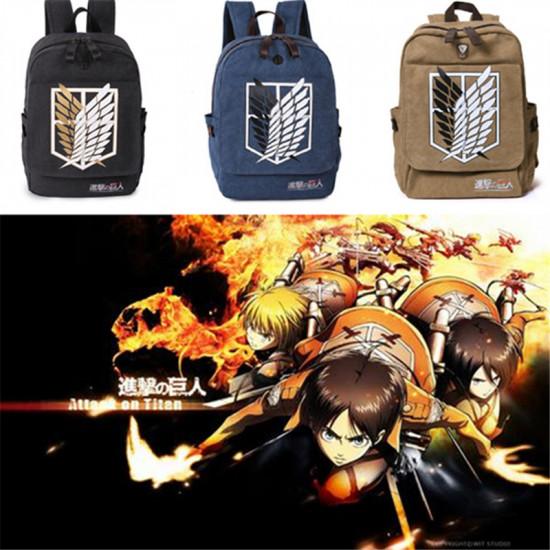 Attack on Titan Shingeki no Kyojin Canvas Cosplay Backpack 2021