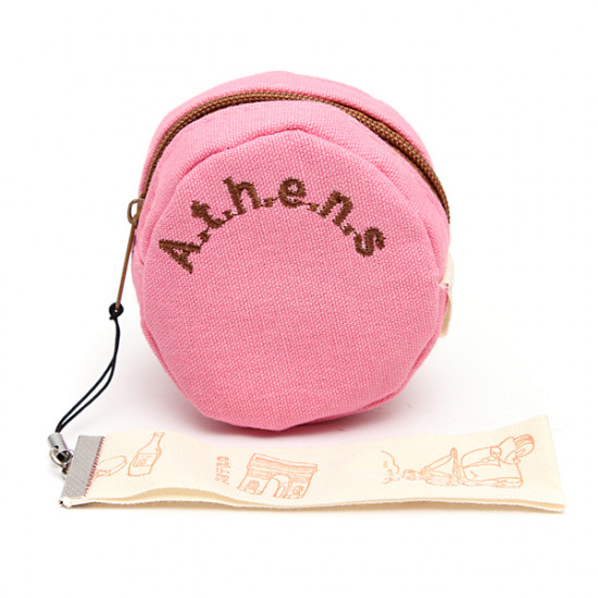 Candy-colored Round Canvas Wallets Coin Change Purses 2021