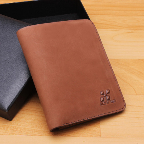 Genuine Leather Male Wallet First Layer Cowhide Purse 2021