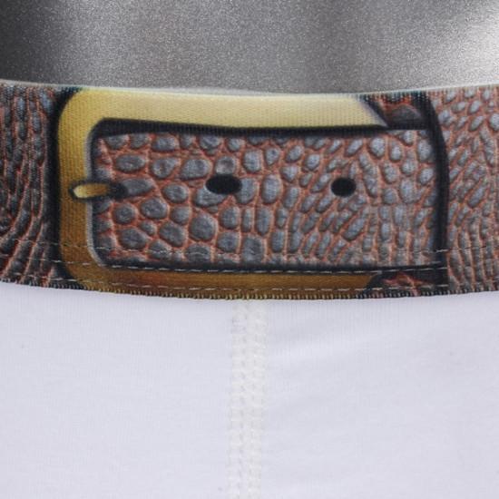 5 Färger Män U Konvex Solid Color Imitation Läder Bälte Underkläder 2021