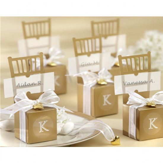 10stk ArtiWedding weißen Stuhl Pralinenschachtel Hochzeitsgeschenk Bevorzugungen 2021