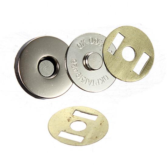 12 Set 18mm Nickel Magnetic Snaps Tasche Haken MetallKnöpfe Verschluss 2021