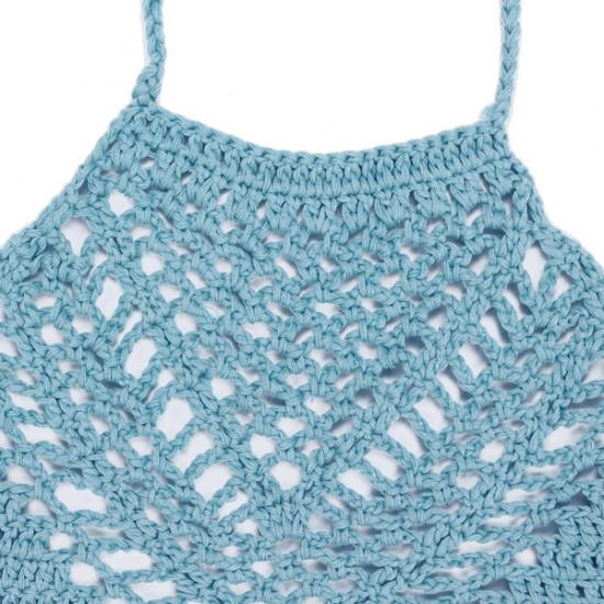 Crochet Bikini Top für Frauen Bralette Knit Bra Boho Strand Bikini Halter 2021