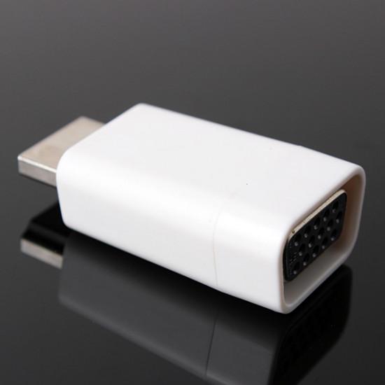 1080P HDMI Hane till VGA 15P Hona Video Konverter Adapter 2021