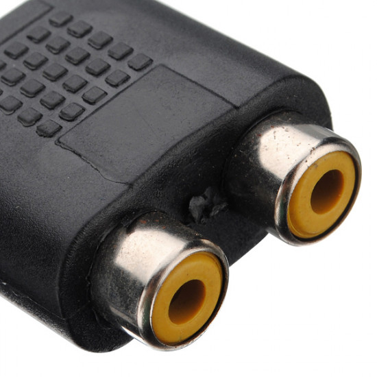 1 Hun til 2 Hun RCA PLUG AV Splitter Adapter (Ny) 2021