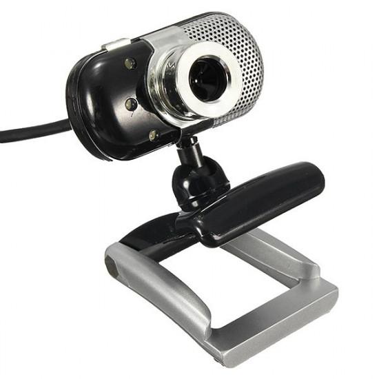 3 LED-lampor USB 2.0 HD Mini Webbkamera med Inbyggd Mikrofon 2021