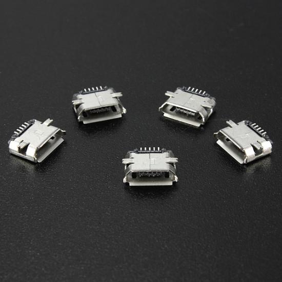 5pcs Micro USB Type B Female 5Pin SMT Socket Jack Connector PCB Board 2021