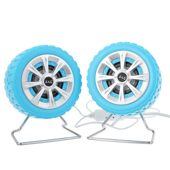 A Pair Music-F M-30 USB Tire Shape Speakers with 3.5mm Plug 2021