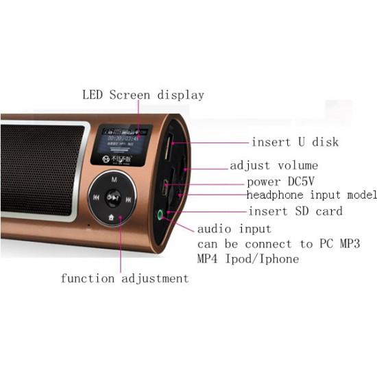 LV520 III 3.5 Mm Indsæt Card FM-radio USB Højttalere 2021