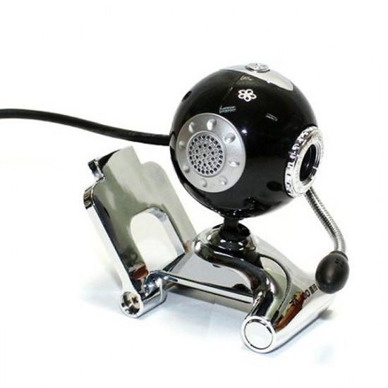 USB 2.0 Sphere Webcam Datorer Foto Digital med Mikrofon för PC 2021