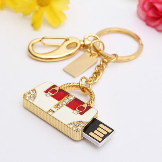 16GB Crystal Bag Model USB2.0 Flash Drive Memory Metal Pen U Disk 2021
