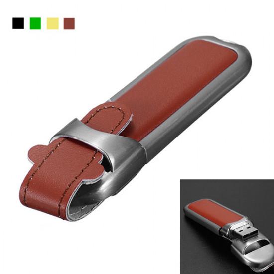 16GB Leather USB 2.0 Flash Drive Memory Pen U Disk 2021