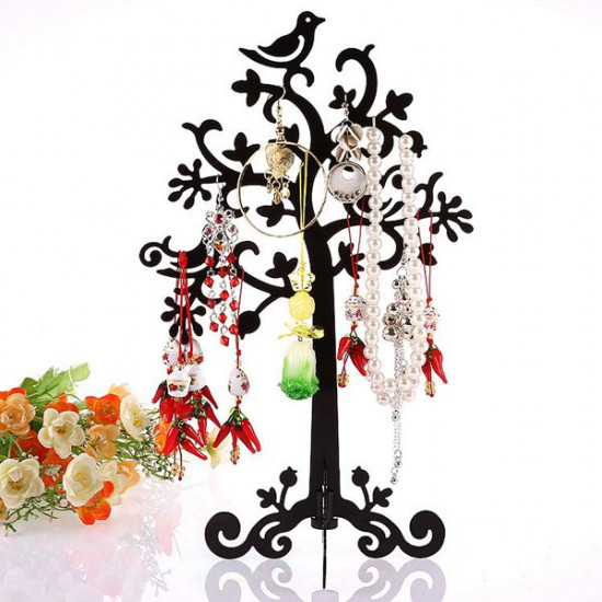 Metal Tree Bird Earring Bracelet Necklace Ring Jewelry Display Stand Holder 2021