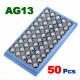 50 pcs AG13 357A LR44 SR44SW SP76 L1154 RW82 RW42 Battery 2021