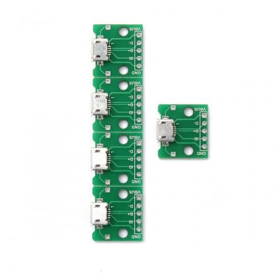 5Pcs 5Pin MICRO USB To DIP Adapter Module B Type Pcb 2021