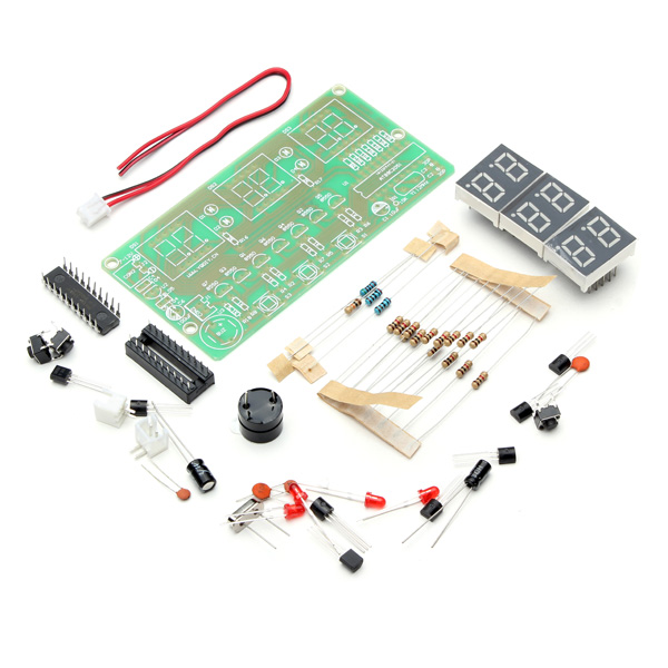 Buy six digital led electronic diy clock kit v