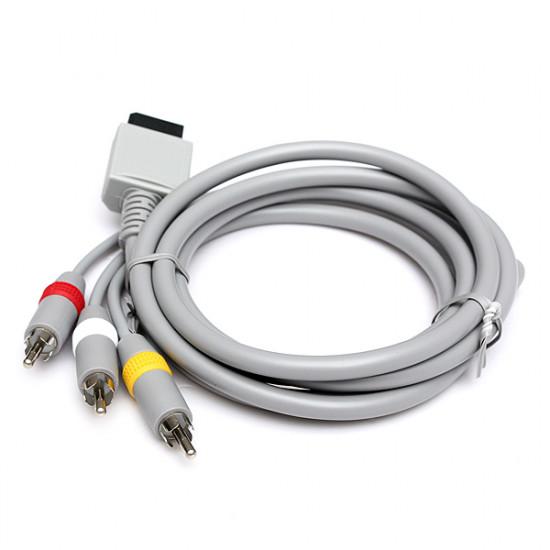 1.8m Audio Video AV TV Composite RCA-kabel för Nintendo Wii-konsolen 2021